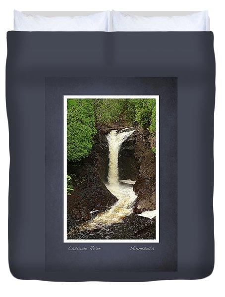 Cascade River Scrapbook Page Duvet Cover
