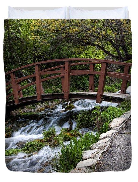 Cascade Springs Bridge Duvet Cover