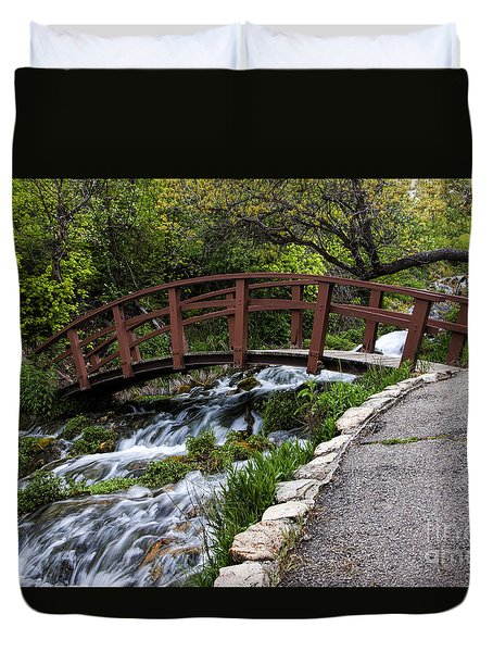 Cascade Springs Bridge Duvet Cover