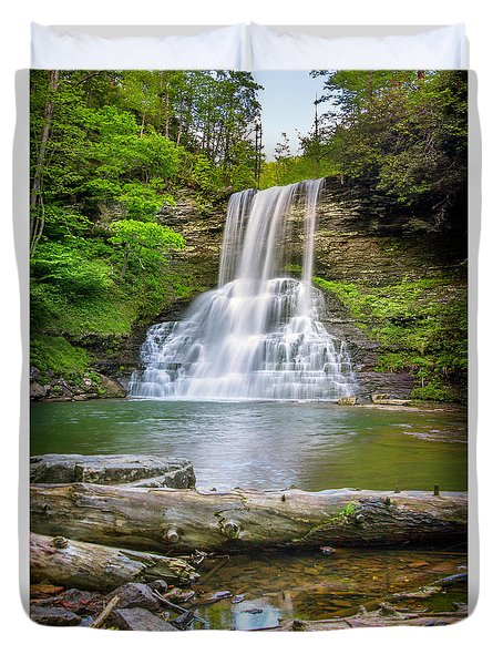 Cascades Falls Giles County Duvet Cover