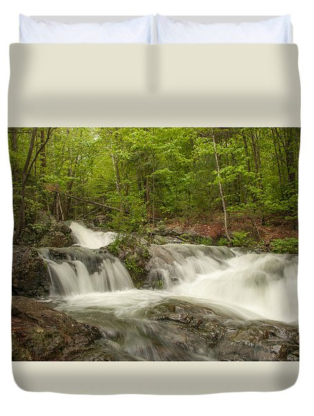 Cascades On The Brooks Falls Trail Duvet Cover
