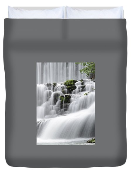 Cascading Mirror Lake Falls Duvet Cover