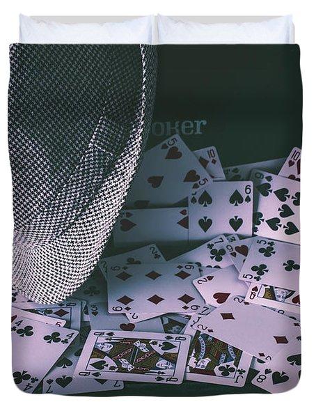 Case Of A Gambling Pro  Duvet Cover
