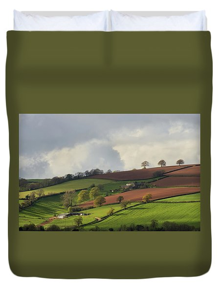 Caseberry Downs In Devon Duvet Cover