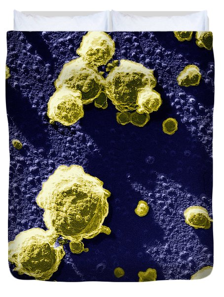 Casein Micelles Duvet Cover by Scimat