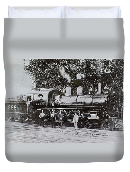 Duvet Cover featuring the photograph Casey Jones Engine  by Jeanne May