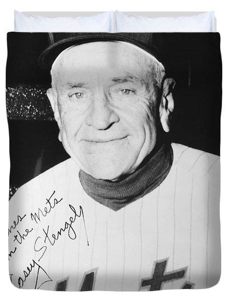 Casey Stengel (1890-1975) Duvet Cover