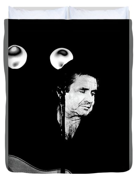 Duvet Cover featuring the photograph Cash by Paul W Faust - Impressions of Light