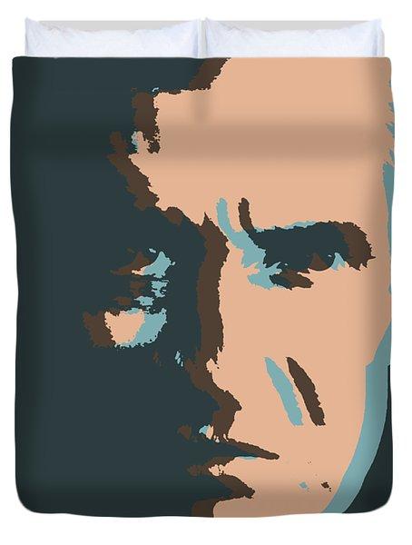 Cash Pop Art Poster Duvet Cover