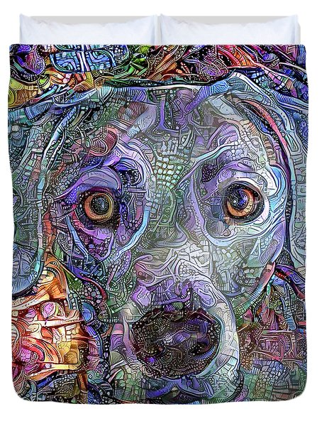 Cash The Blue Lacy Dog Closeup Duvet Cover