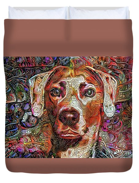 Cash The Lacy Dog Duvet Cover