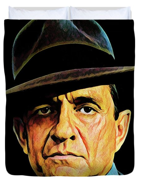 Cash With Hat Duvet Cover