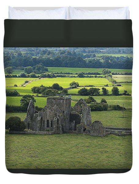 Duvet Cover featuring the photograph Cashel Hore Abbey by Enrico Pelos