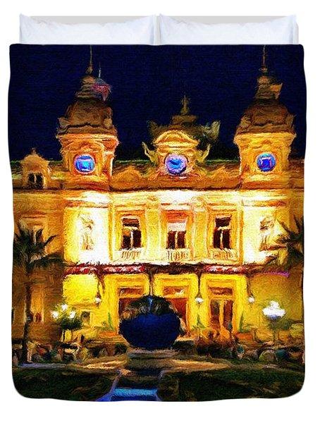 Casino Monte Carlo Duvet Cover by Jeff Kolker