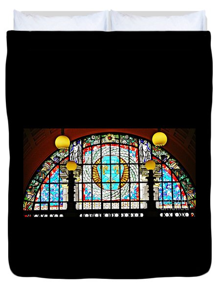 Casino Stained Glass Duvet Cover by Sarah Loft