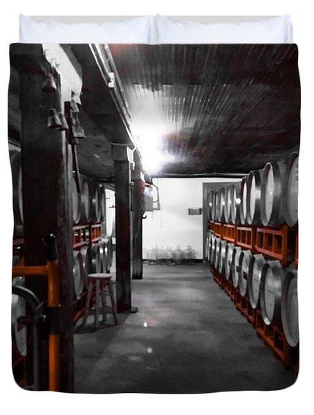 Casks Of Wine Duvet Cover
