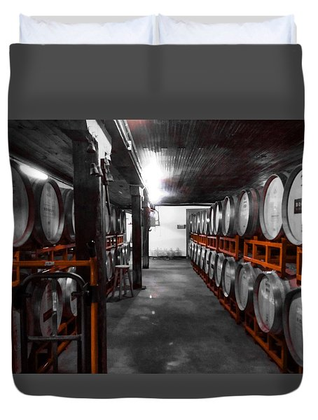 Casks Of Wine Duvet Cover