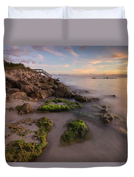 Caspersen Beach Sunset 2 Duvet Cover