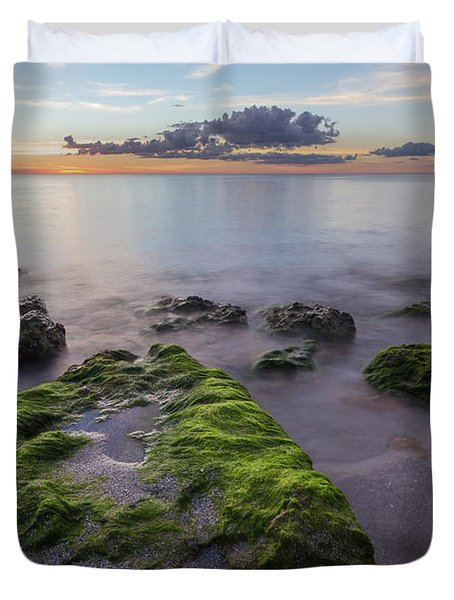Caspersen Beach Sunset Duvet Cover