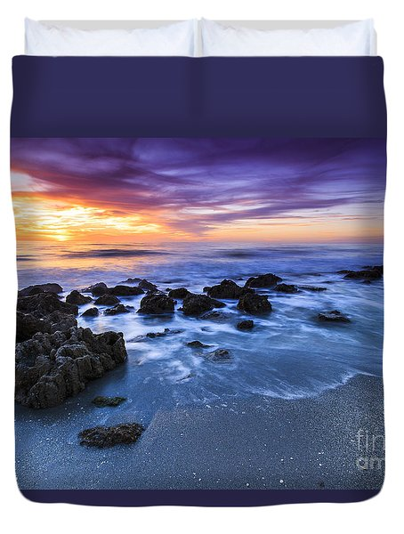 Casperson Beach Sunset 2 Duvet Cover
