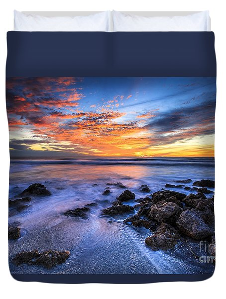 Casperson Beach Sunset 3 Duvet Cover