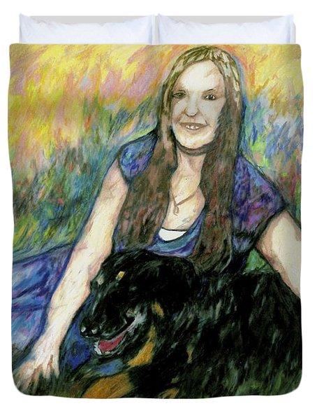 Cassandra And Casey Duvet Cover