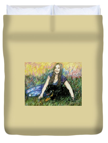 Cassandra And Casey Duvet Cover