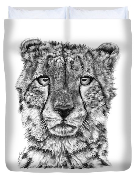 Cassandra The Cheetah Duvet Cover