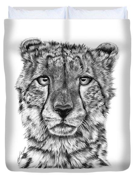 Cassandra The Cheetah Duvet Cover by Abbey Noelle