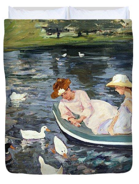 Cassatt: Summertime, 1894 Duvet Cover