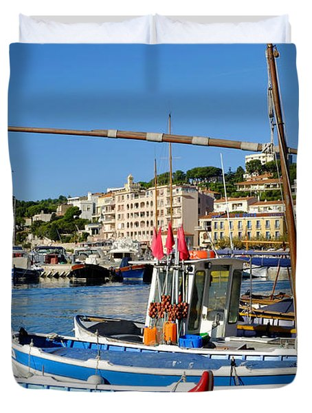Cassis Harbor Duvet Cover