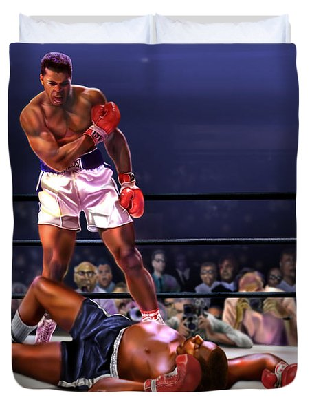 Cassius Clay Vs Sonny Liston Duvet Cover