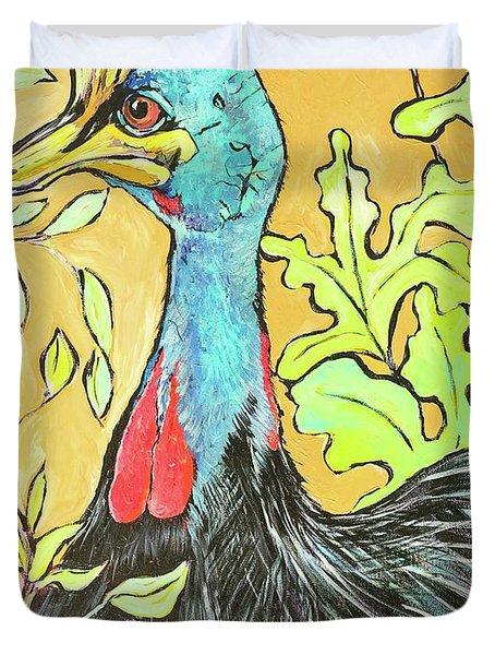 Cassowary Bird Painted From Zoo Atlanta Duvet Cover