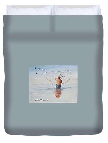 Cast Net Fishing Duvet Cover