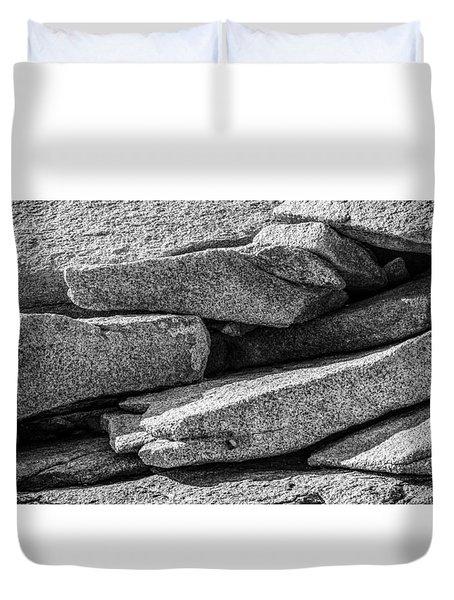 Coastal Rock I Duvet Cover