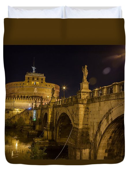 Castel Sant'angelo Duvet Cover by Ed Cilley