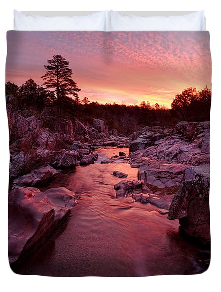 Caster River Shutins Duvet Cover by Robert Charity