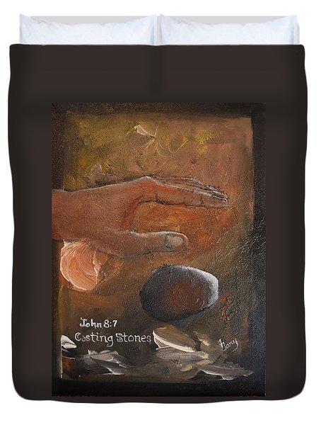 Casting Stones Duvet Cover