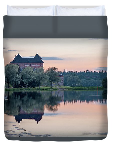 Castle After The Sunset Duvet Cover