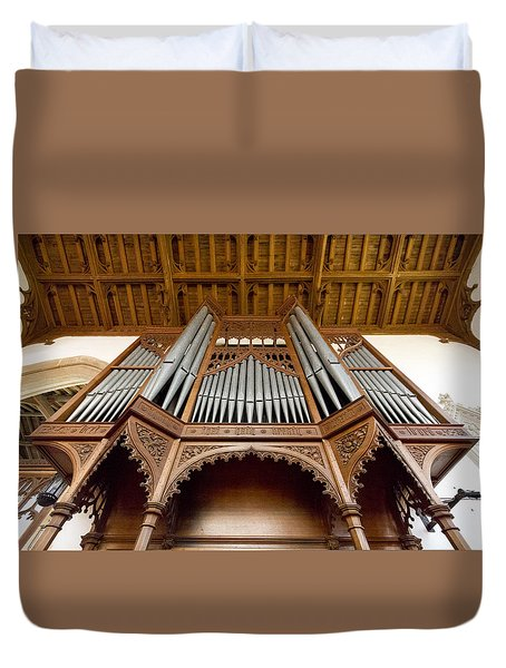 Castle Ashby Pipe Organ Duvet Cover