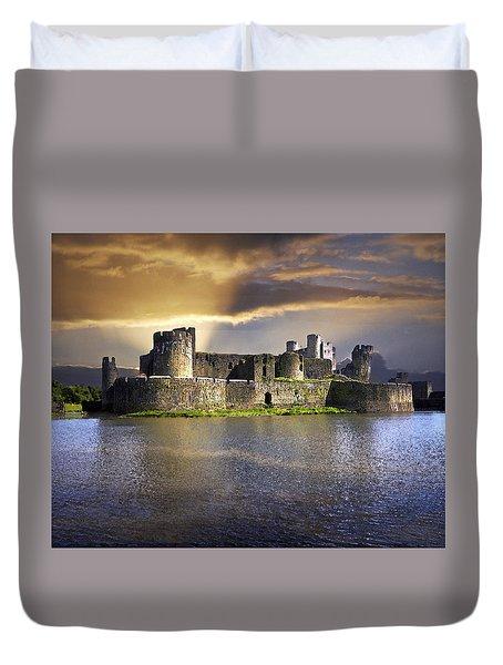 Castle At Dawn Duvet Cover
