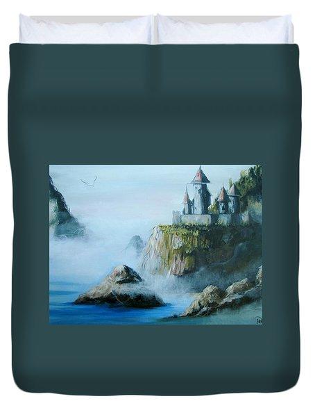 Castle At Dragon Point Duvet Cover