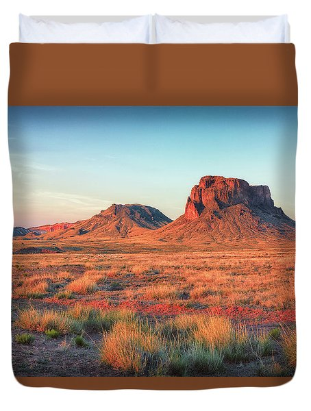 Castle Butte Duvet Cover by David Cote