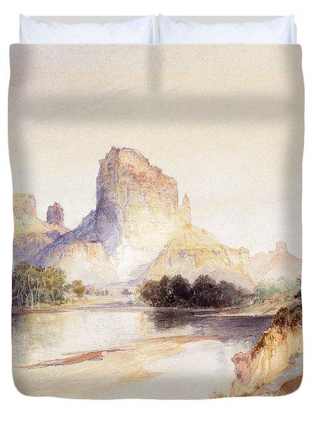 Castle Butte, Green River, Wyoming Duvet Cover