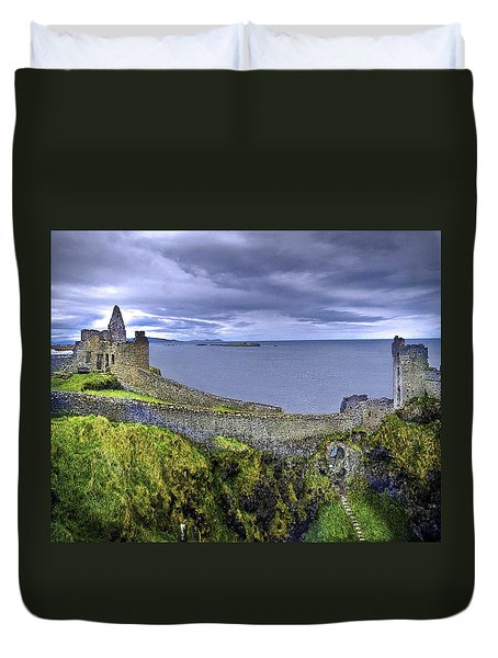 Castle By The Sea Duvet Cover