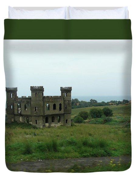Castle Catania Sicily Duvet Cover