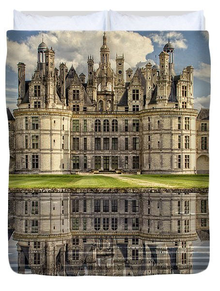 Duvet Cover featuring the photograph Castle Chambord by Heiko Koehrer-Wagner