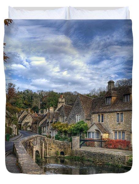 Castle Combe England Duvet Cover by Ann Garrett