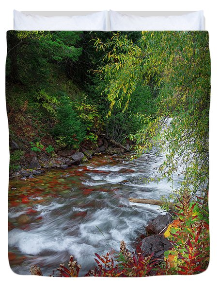 Duvet Cover featuring the photograph Castle Creek Beauty by Tim Reaves