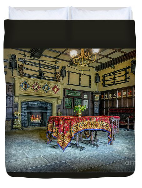 Duvet Cover featuring the photograph Castle Dining Room by Ian Mitchell
